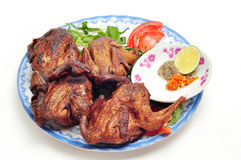 Vietnamese grilled quail Royalty Free Stock Image