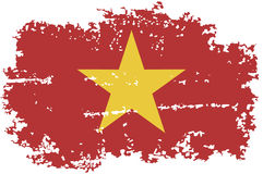 Vietnamese grunge flag. Vector illustration. Royalty Free Stock Image