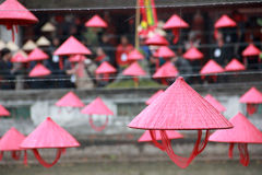 Vietnamese Hats in Hanoi Templa of Literature-5 Stock Photo
