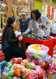 Vietnamese, Ho Chi Minh open air market Royalty Free Stock Images