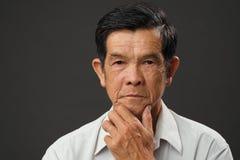 Vietnamese hogere mens royalty-vrije stock afbeeldingen