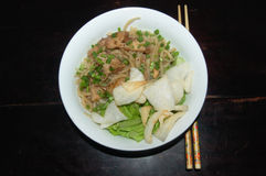 Vietnamese Hoi An Noodle (Cao Lau). A bowl of Vietnamese Hoi An Noodle (Cao Lau Royalty Free Stock Images