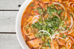 Vietnamese hot and spicy soup, Bun Bo Hue chay Stock Photos