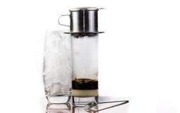 Vietnamese ice coffee Royalty Free Stock Images