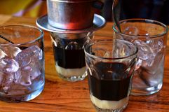 Vietnamese ice coffee. royalty free stock photo