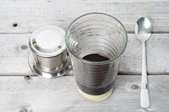 Vietnamese iced coffee Royalty Free Stock Image