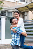 Vietnamese joyful couple Stock Photo
