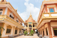 Vietnamese Khmer Temple and Monastery Stock Photography