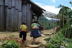 Vietnamese kids in a rural village. Vietnamese kids in a village near Sapa,Vietnam Stock Photography