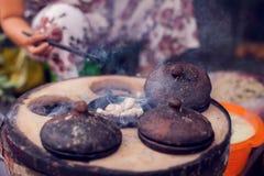 Vietnamese kleine rijstpannekoek - Traditioneel voedsel van Vietnam royalty-vrije stock afbeelding
