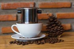 Vietnamese koffie/nadrukkop Royalty-vrije Stock Afbeelding