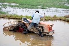 Vietnamese landbouwer stock foto