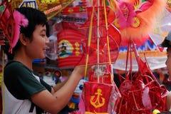 Vietnamese lantern street,  mid autumn festival Royalty Free Stock Photos