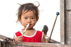 Vietnamese little girl Royalty Free Stock Image