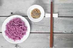 Vietnamese Magenta leaves sticky rice Stock Images