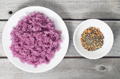 Vietnamese Magenta leaves sticky rice Royalty Free Stock Photography