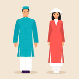 Vietnamese man and a woman Stock Images