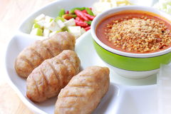 Vietnamese meatball wrap Royalty Free Stock Image