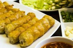 Vietnamese Meatball Wraps Stock Image