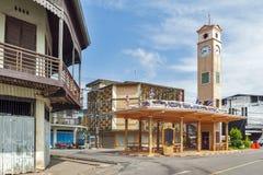 Vietnamese Memorial Clock Tower, historical landmark of Nakhon Phanom Province built by Vietnamese people in 1960. Nakhon Phanom, Thailand - May 2017: Vietnamese Royalty Free Stock Photos