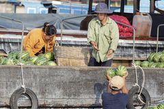 Vietnamese Mensen, Chau-Doc., Vietnam stock foto's
