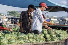 Vietnamese Mensen, Chau-Doc., Vietnam stock afbeeldingen