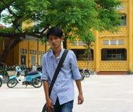 Vietnamese middelbare schoolstudent Stock Foto's