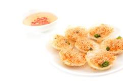 Vietnamese mini fried rice pancakes Royalty Free Stock Photos