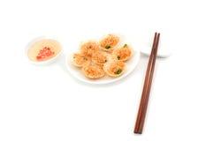 Vietnamese mini fried rice pancakes Stock Photo