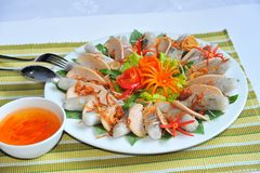 Vietnamese Minted Pork Spring Roll Stock Photo
