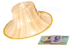 Vietnamese money, dong with asian style hat Stock Photo