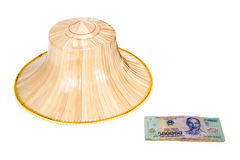 Vietnamese money, dong with asian style hat Royalty Free Stock Images