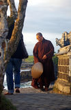 Vietnamese monk at a Balinese temple Stock Images