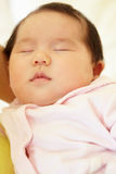 Vietnamese mother cuddling baby Royalty Free Stock Image
