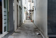 Vietnamese narrow street. homes are located close to each other. Nha Trang Royalty Free Stock Photos