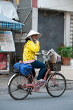 Vietnamese newsgirl Royalty Free Stock Image