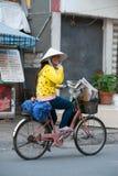 Vietnamese newsgirl Royalty Free Stock Image