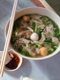 Vietnamese noedel stock foto's