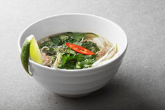Vietnamese noodle pho soup Royalty Free Stock Photos