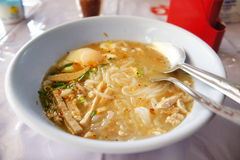 Vietnamese noodle soup. In thailand Royalty Free Stock Image