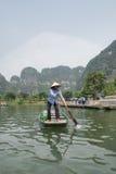 Vietnamese Oarswoman Stock Photography