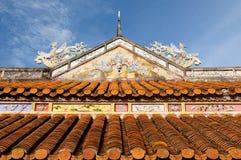 Vietnamese oude architectuur Stock Afbeeldingen