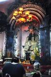 Vietnamese pagoda interior Stock Photo