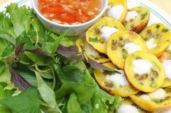 Vietnamese pannekoeken stock foto