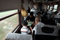Vietnamese passenger in  train, public transport Stock Image
