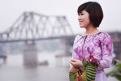 Vietnamese people ao dai Royalty Free Stock Photo