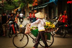 Vietnamese people. Hanoi Royalty Free Stock Photo