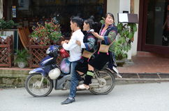 Vietnamese people on motorcycle Royalty Free Stock Photography