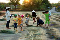 Vietnamese people at Vietnam countryside Stock Photos