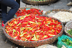 Vietnamese Peppers at a Local Market Stock Photography